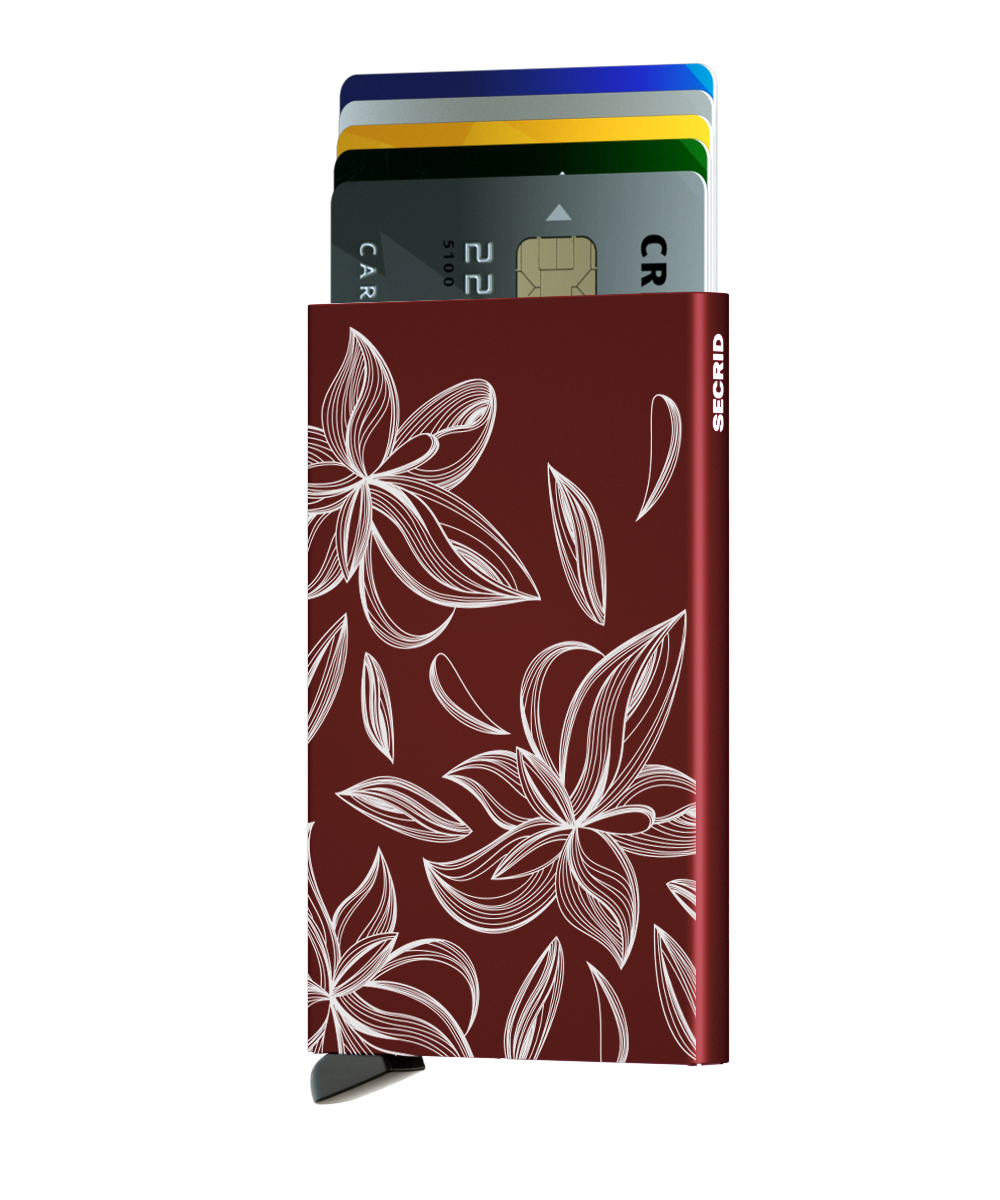 Secrid Cardprotector Laser Magnolia Bordeaux Cüzdan