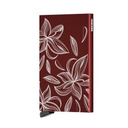Secrid - Secrid Cardprotector Laser Magnolia Bordeaux Wallet