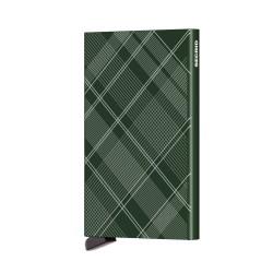 Secrid - Secrid Cardprotector Laser Tartan Green Wallet