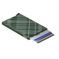 Secrid Cardprotector Laser Tartan Green Wallet - Thumbnail