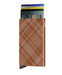 Secrid Cardprotector Laser Tartan Rust Wallet - Thumbnail