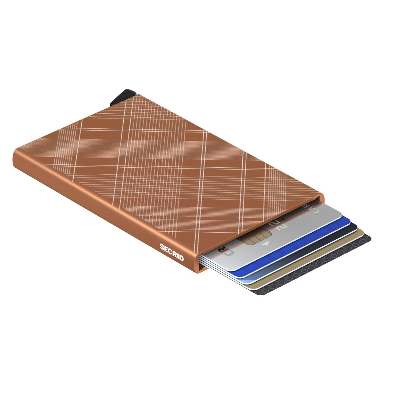 Secrid Cardprotector Laser Tartan Rust Wallet