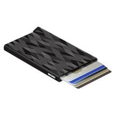 Secrid Cardprotector Laser Zigzag Black Cüzdan - Thumbnail