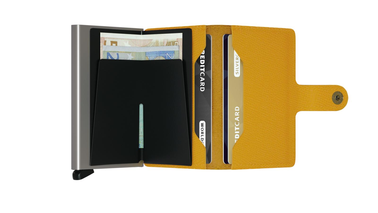 Secrid Miniwallet Crisple Amber Cüzdan