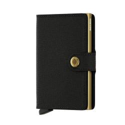 Secrid Miniwallet Crisple Black Gold Cüzdan - Thumbnail