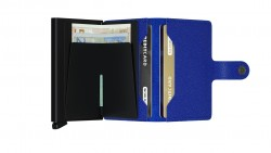 Secrid Miniwallet Crisple Blue Black Wallet - Thumbnail