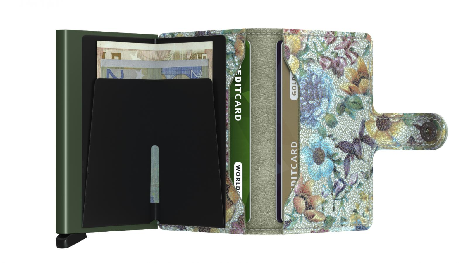 Secrid Miniwallet Crisple Pistachio Floral Cüzdan