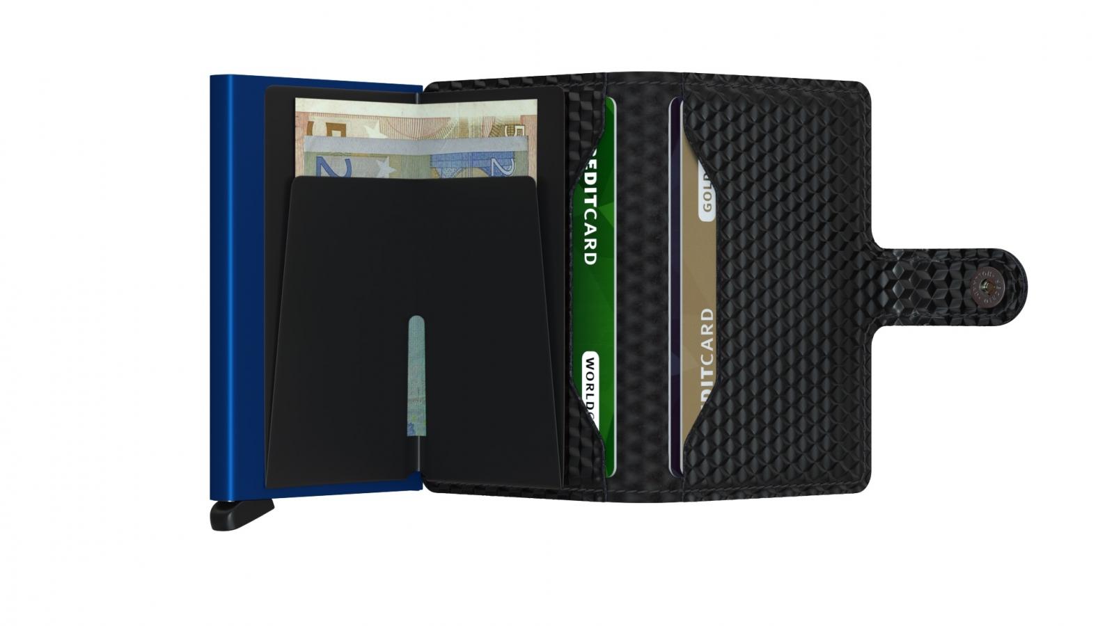 Secrid Miniwallet Cubic Black Blue Cüzdan