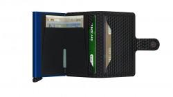 Secrid Miniwallet Cubic Black Blue Cüzdan - Thumbnail