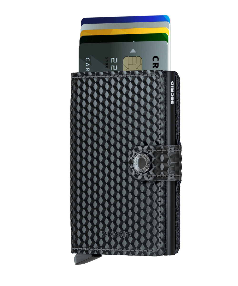 Secrid Miniwallet Cubic Black Cüzdan