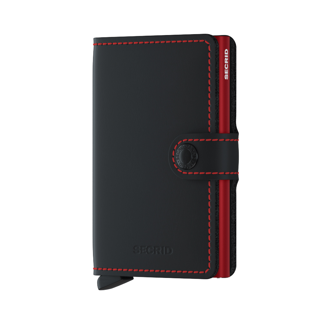 Secrid Miniwallet Matte Black Red Cüzdan