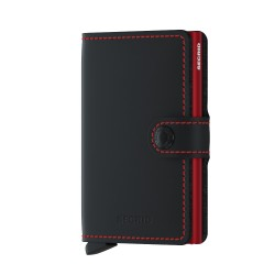 Secrid Miniwallet Matte Black Red Cüzdan - Thumbnail