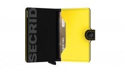 Secrid Miniwallet Matte Black Yellow Cüzdan - Thumbnail