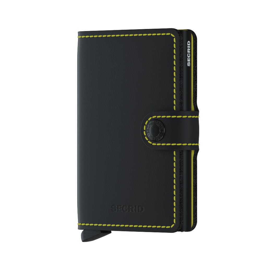 Secrid Miniwallet Matte Black Yellow Wallet