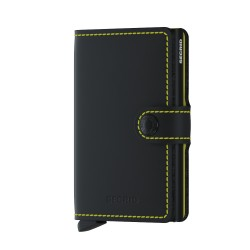 Secrid Miniwallet Matte Black Yellow Wallet - Thumbnail