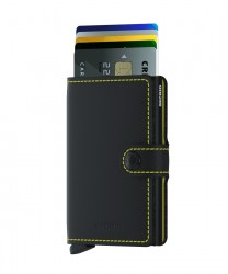 Secrid - Secrid Miniwallet Matte Black Yellow Wallet (1)