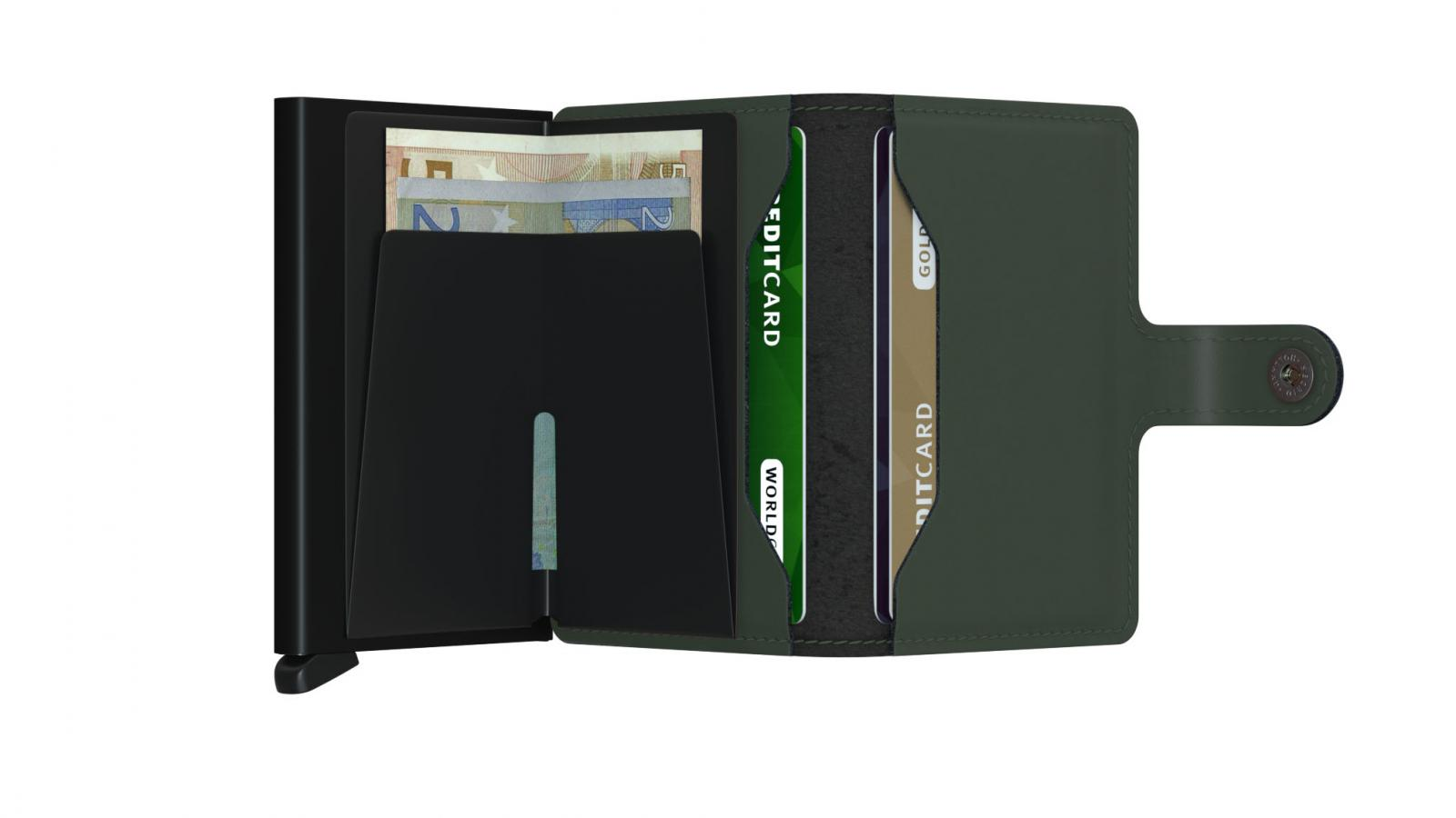 Secrid Miniwallet Matte Green Black Cüzdan