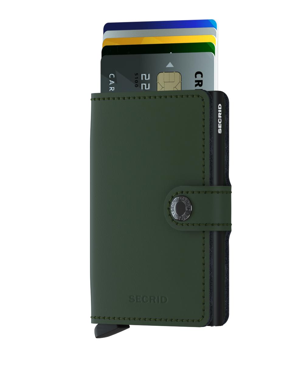 Secrid Miniwallet Matte Green Black Wallet