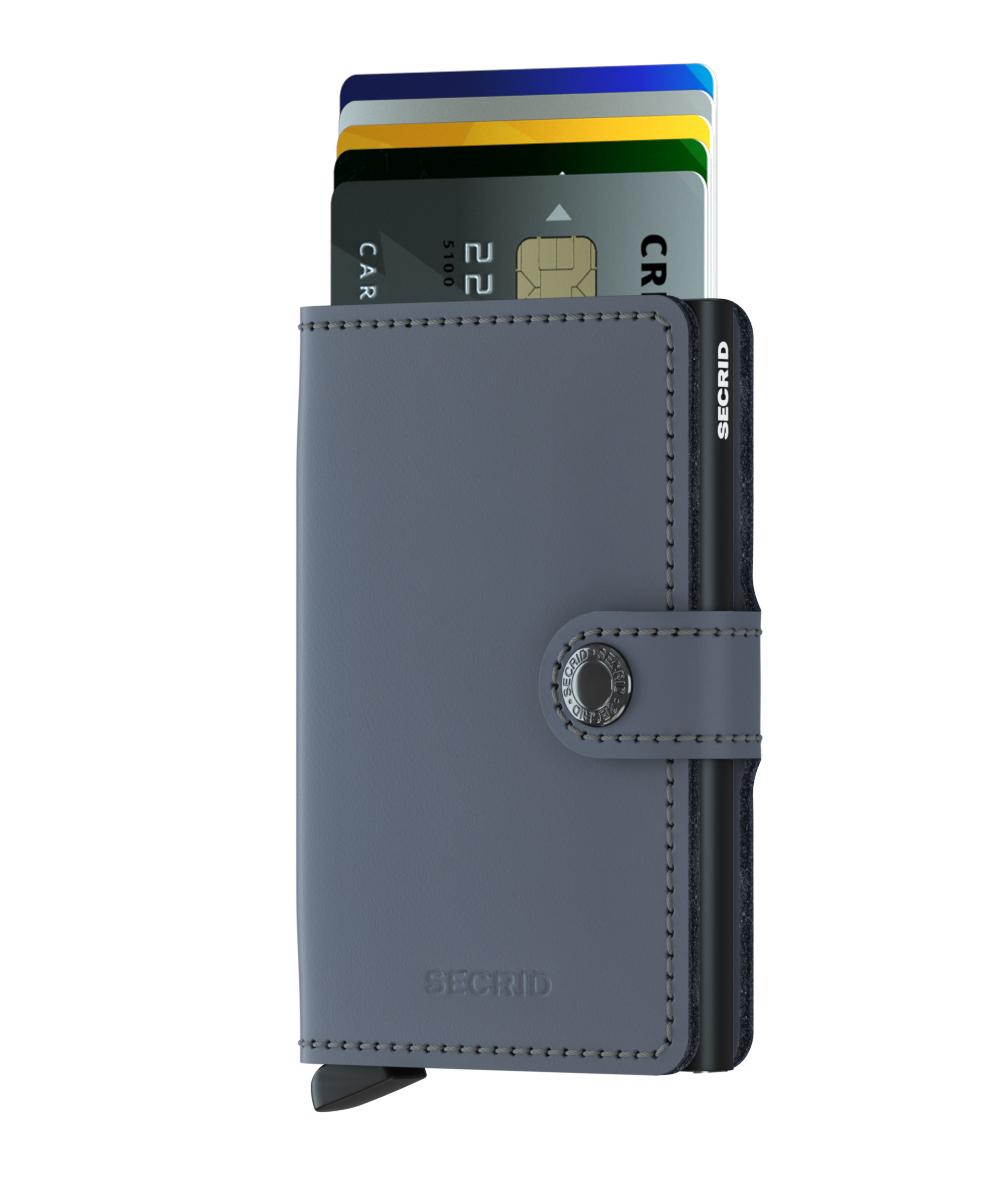Secrid Miniwallet Matte Grey Black Cüzdan