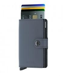 Secrid Miniwallet Matte Grey Black Cüzdan - Thumbnail