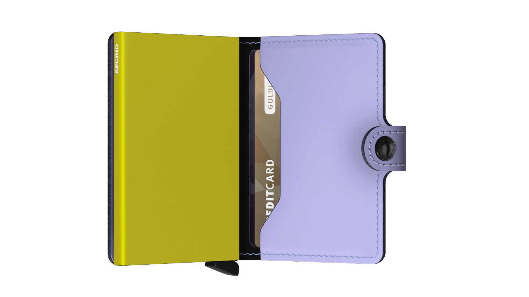 Secrid Miniwallet Matte Lila Lime Cüzdan