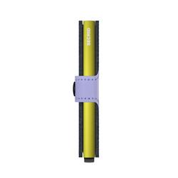 Secrid Miniwallet Matte Lila Lime Cüzdan - Thumbnail