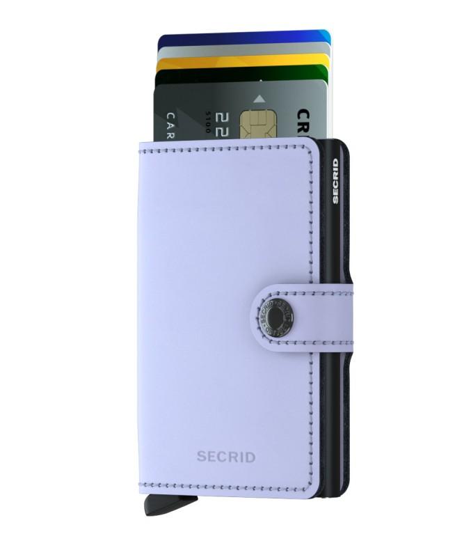 Secrid - Secrid Miniwallet Matte Lilac Black Cüzdan (1)