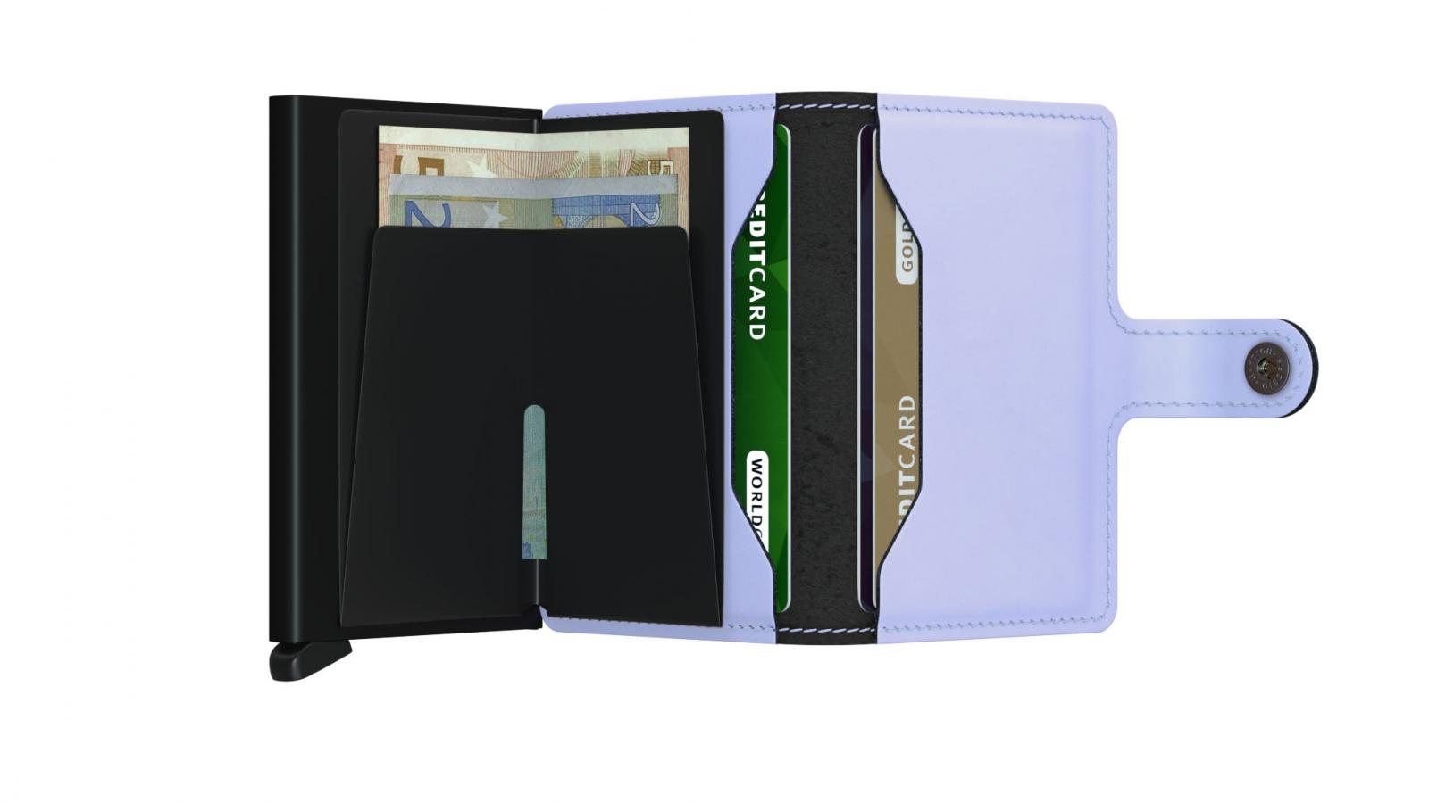 Secrid Miniwallet Matte Lilac Black Cüzdan