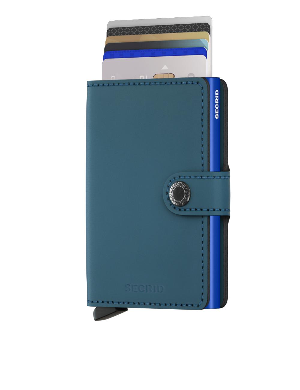 Secrid Miniwallet Matte Petrol Blue Cüzdan