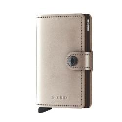 Secrid - Secrid Miniwallet Metalic Champagne Brown Wallet