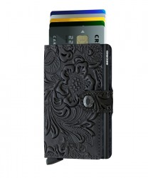 Secrid Miniwallet Ornament Black Cüzdan - Thumbnail