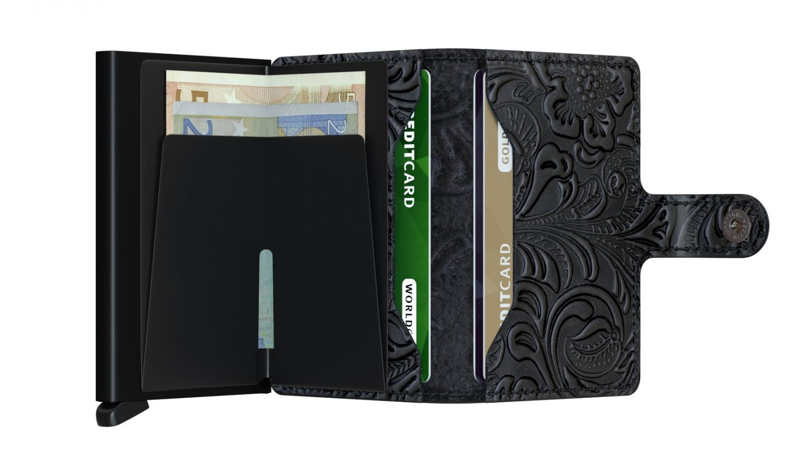 Secrid Miniwallet Ornament Black Cüzdan