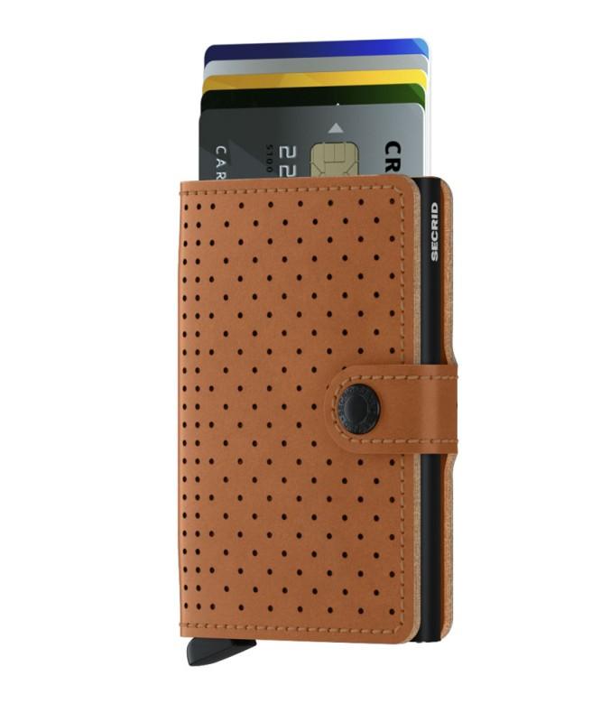 Secrid - Secrid Miniwallet Perforated Cognac Cüzdan (1)
