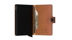 Secrid Miniwallet Perforated Cognac Cüzdan - Thumbnail