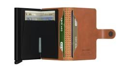 Secrid Miniwallet Perforated Cognac Wallet - Thumbnail