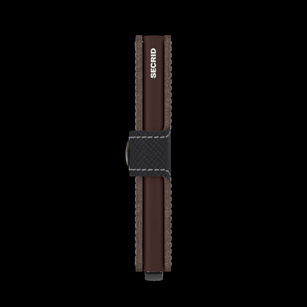 Secrid Miniwallet Saffiano Brown Cüzdan