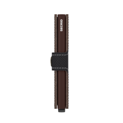 Secrid Miniwallet Saffiano Brown Cüzdan - Thumbnail