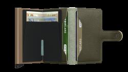 Secrid Miniwallet Saffiano Olive Cüzdan - Thumbnail