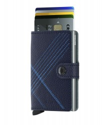 Secrid Miniwallet Stich Linea Navy Wallet - Thumbnail