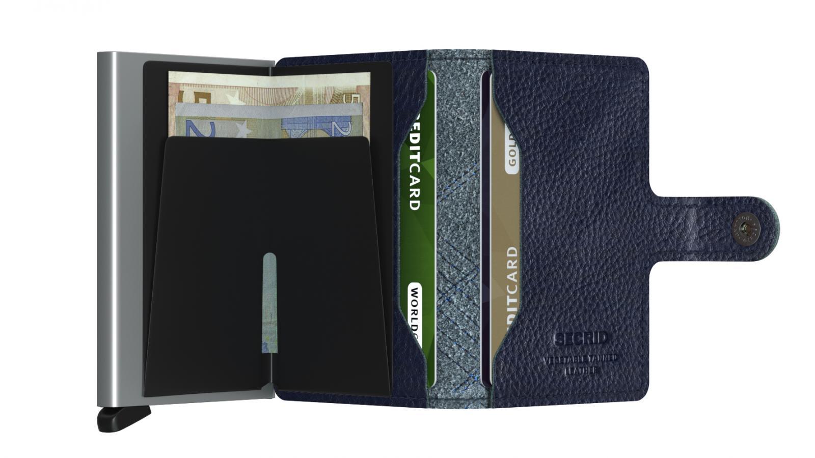 Secrid Miniwallet Stich Linea Navy Wallet