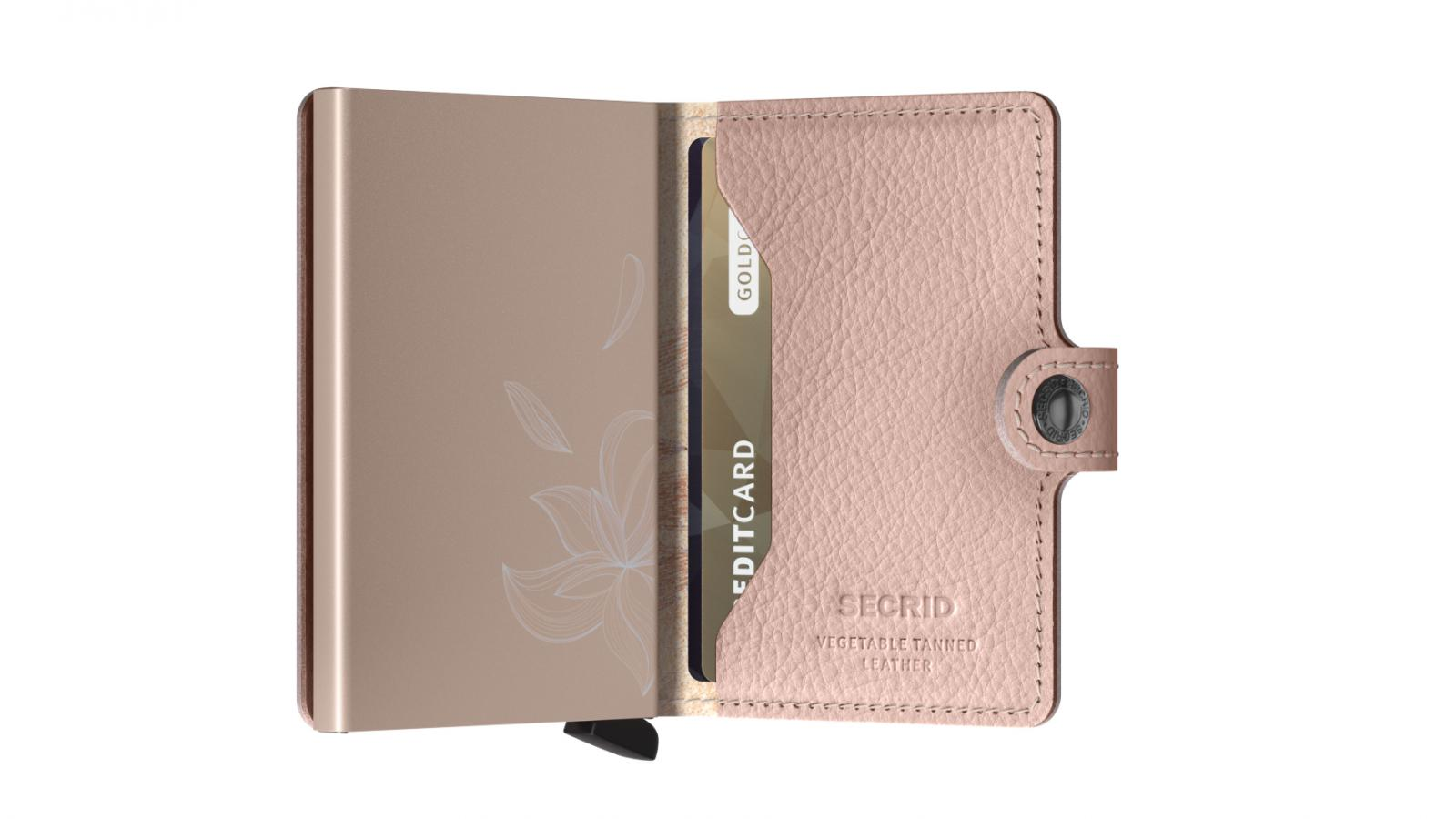 Secrid Miniwallet Stich Magnolia Rose Wallet