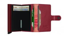 Secrid Miniwallet Stich Magnolia Rosso Wallet - Thumbnail