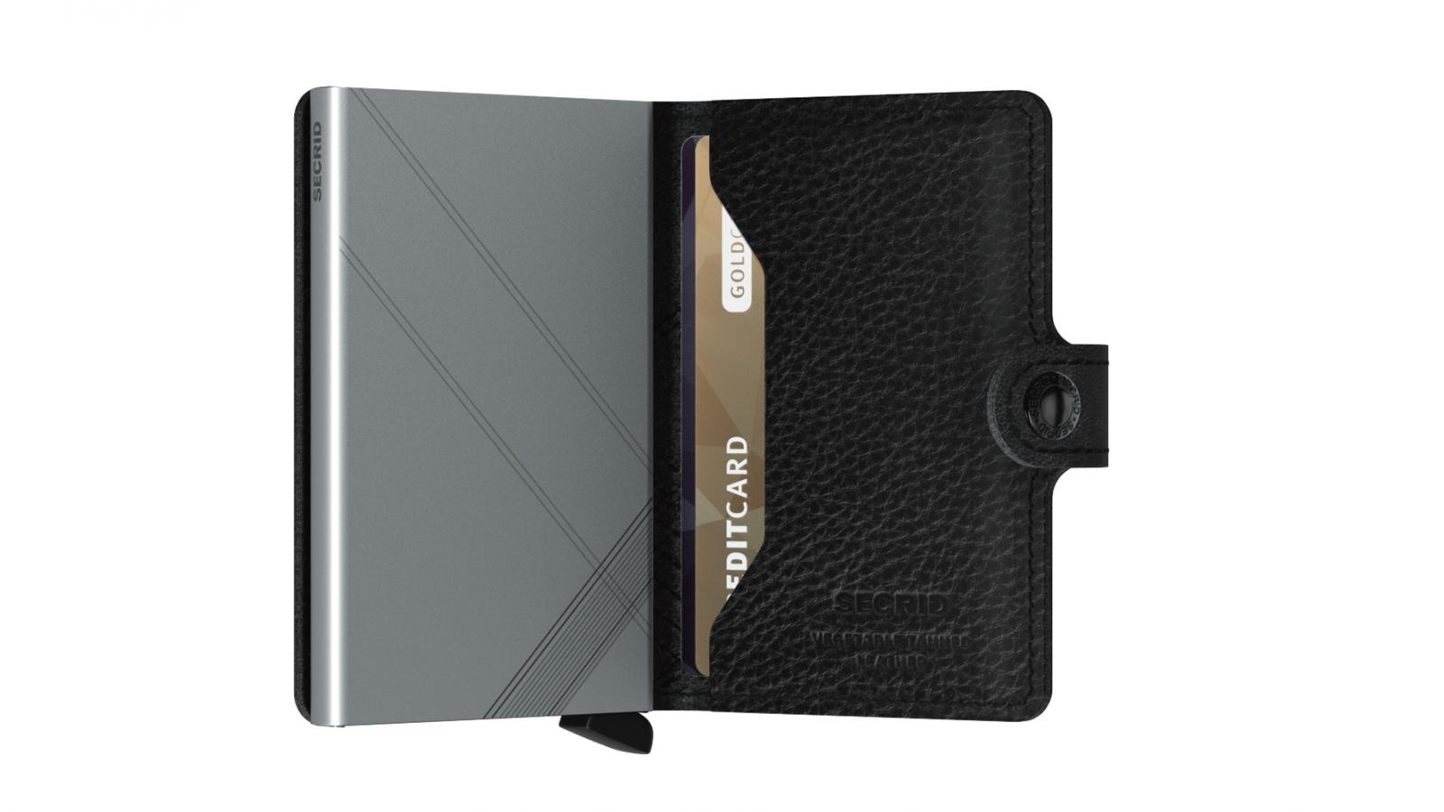 Secrid Miniwallet Stichline Black Wallet