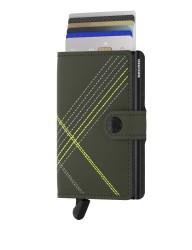 Secrid - Secrid Miniwallet Stichlinea Lime Wallet (1)