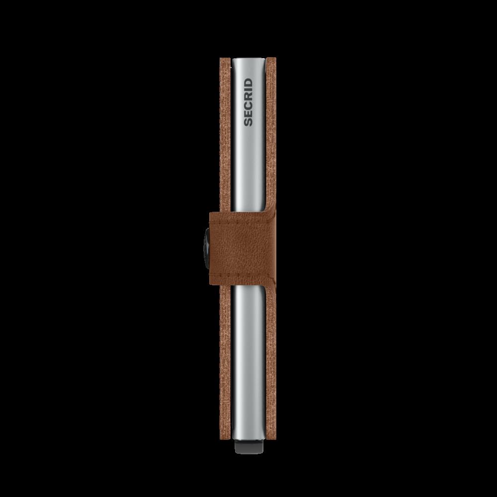 Secrid Miniwallet Vintage Cognac Silver Cüzdan