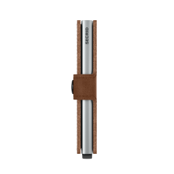 Secrid Miniwallet Vintage Cognac Silver Cüzdan - Thumbnail