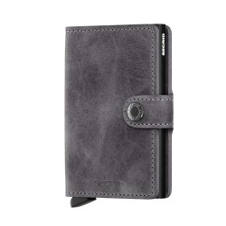 Secrid Miniwallet Vintage Grey Black Cüzdan - Thumbnail