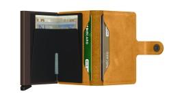 Secrid Miniwallet Vintage Ochre Cüzdan - Thumbnail