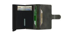 Secrid Miniwallet Vintage Olive Black Cüzdan - Thumbnail