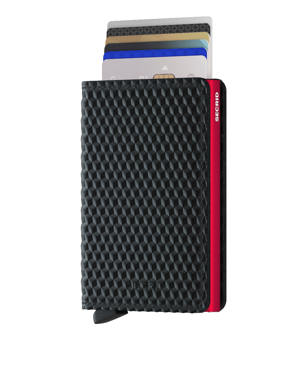Secrid Slimwallet Cubic Black Red Cüzdan